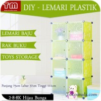 Lemari & Kabinet -) Lemari Baju Plastic Anti-Air Transparan Pintu B71