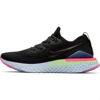 Nike Epic React Flyknit 2 Premium BNIB Black Pink Sneakers Pria w