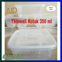 Promo Thinwall Kotak 350 Ml 25 Pcs Food Container Kontak Makan Plastik