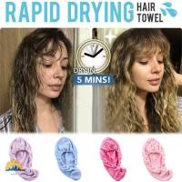 Dry Hair Towel Cap Super Absorbent Microfiber Soft Quick Dry Turban B
