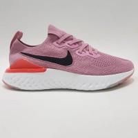Nike Epic React Flyknit 2 Premium BNIB Pink Sneakers Wanita Sepat