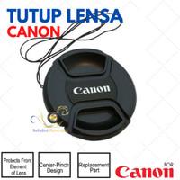Lens Cap Canon 58mm Fujifilm Canon 16-50mm 18-55mm tutup lensa lenscap