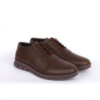Sepatu Formal Pria Pantofel Kulit Kerja ORI - BESIC MORRIS ROYAL BROWN