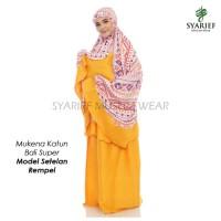 Mukena Katun Bali Super - Model Setelan Rempel (100% Asli)