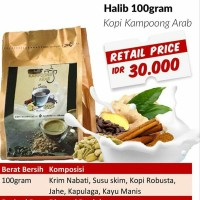 Kopi Kampoong Arab Susu Halib 100 gr 100gr Kopinya Kopi Robusta Rempah