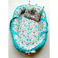 Baby Nest kasur bayi jinjing bisa bolak balik motif kuda pink
