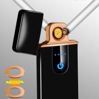 Korek api elektrik Mini Unik Fingerprint Sensor LED Lighter USB 517