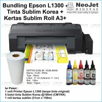 Promo Bundling Paket Printer Epson A3 Tinta Sublim Korea Kertas Sublim