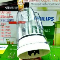 gelas bumbu+pisau untuk blender philips HR2115 HR2116 HR2061HR-2071