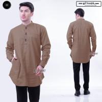 Koko Pakistan Coklat/Baju Gamis Lengan Panjang/Baju Kurta Exclusive