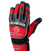 YELLOW CORN GLOVE YG-084R RED WATERPROOF | SARUNG TANGAN MOTOR | BIKER
