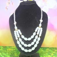 Kalung Wanita Mutiara 3 Layer Warna Putih