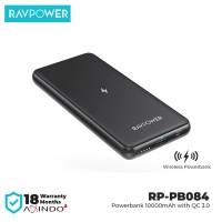 RAVPower Wireless Powerbank 10000mAH QC3.0 Black [RP-PB084]