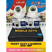 Paket CCTV 4 Channel 2 Kamera 3MP Full HD Camera Komplit Hardisk 320GB
