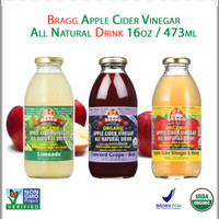 Bragg Organic Apple Cider Vinegar All Natural Drink 16oz / 473 ml