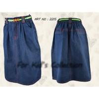 Rok Sof jeans Panjang Anak Perempuan - 5
