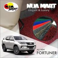 Karpet Mobil Mie TOYOTA ALL NEW FORTUNER VRZ 2018 bahan 2 warna prwmi