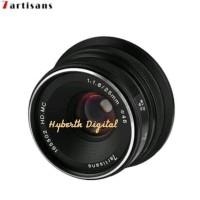 Lensa 7artisan 25mm F 1.8 for Fuji Black
