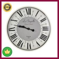 Jam Dinding Klasik Angka Romawi - Putih