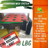 Pos Hemat Ongkir Hidroponik Sistem Wick Pemula 18 Lubang Bonus Bibit