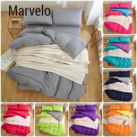 Marvelo - Bed Cover 8 oz Sprei Set Katun Polos Single 100 cm BC 150
