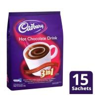 Cadbury Hot Chocolate Drink 3in1 Bag 450gr DAPAT 2 - minuman cokelat