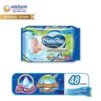 Mamypoko Baby Care Wipes ANTISEPTIK NON FREGRANCE 48 Lembar