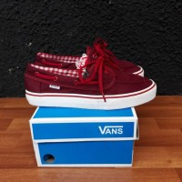 sepatu pria sneakers vans slip on zapato port royale maroon ICC