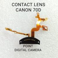 flex pin conector lensa Canon 70D contact lens