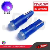 Lampu LED Mobil / Motor / Speedometer T5 Ceramic 1 SMD - Blue