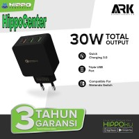 Adapter Hippo ARK 3 Quick Charger 30W Total OutPut 3 usb port