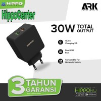 Adapter Hippo ARK 2 Quick Charger 30W Total OutPut 2 usb port