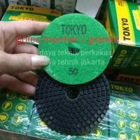 polishing pad #50 tokyo - diamond pad poles marmer - pad poles granite