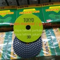 polishing pad #30 tokyo - diamond pad poles marmer - pad poles granite