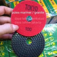 polishing pad 100 tokyo - diamond pad poles marmer - pad poles granite