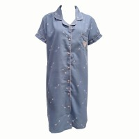 Young Hearts Y19 Budget Woven Pijamas Dress Y19-00669-BLUE