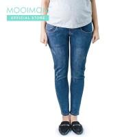 MOOIMOM Maternity Jeans with Stripe Navy - Celana Jeans Ibu Hamil Navy