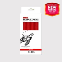 Paper Straw - Full Red