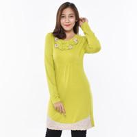 LUSINAN V6577 Atasan Cewek Kaos Tunik Wanita Lengan Panjang Premium