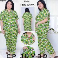 """Hpy - Piyama JUMBO wanita """" Kodok Hijau """" CP Ld 120 XXL"""