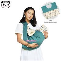 Gendongan Bayi Samping plus Celemek Ibu Menyusui Moms Baby MBG 1012