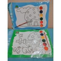 Mainan anak edukasi magic painting kuas