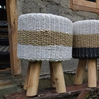 kursi jamur stool anyaman seagrass