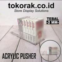 RAK ROKOK ACRYLIC PUSHER 20 CM OTOMATIS MAGNET MINIMARKET SUPERMARKET