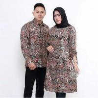 Batik Couple Atasan Wanita dan Kemeja Pria - Motif Cirebonan