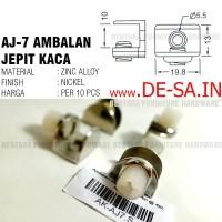 (100 PCS) AJ7 - Jepit Ambalan Kaca Chrome