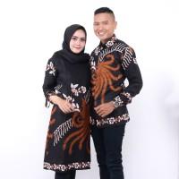 Batik Couple AHY - Atasan Wanita Tunik - Kemeja Pria