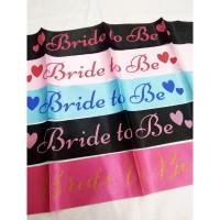 Selempang Sash Bride To Be / Slempang Bride To Be Pink Putih Hitam