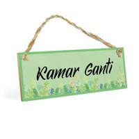 Hiasan Dinding Gantung KAMAR GANTI MDF 10x30cm Wall Home Decor Kayu