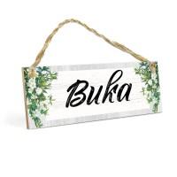 Wall Home Decor BUKA MDF 10x30cm Hiasan Gantungan Pintu Cafe Toko
